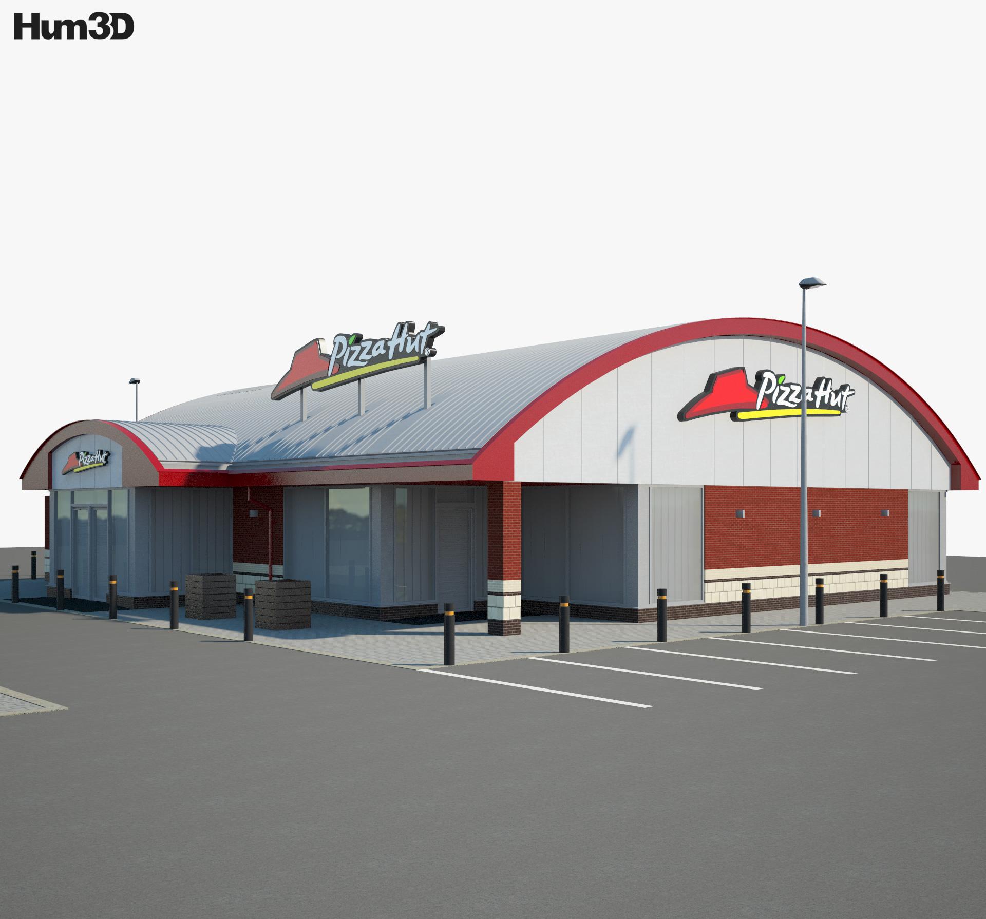 Pizza Hut Restaurant 01 3d model