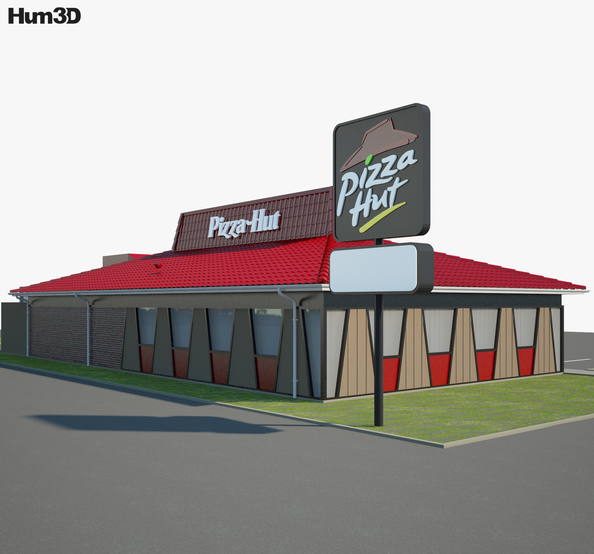 Pizza Hut Restaurant 02 3d model