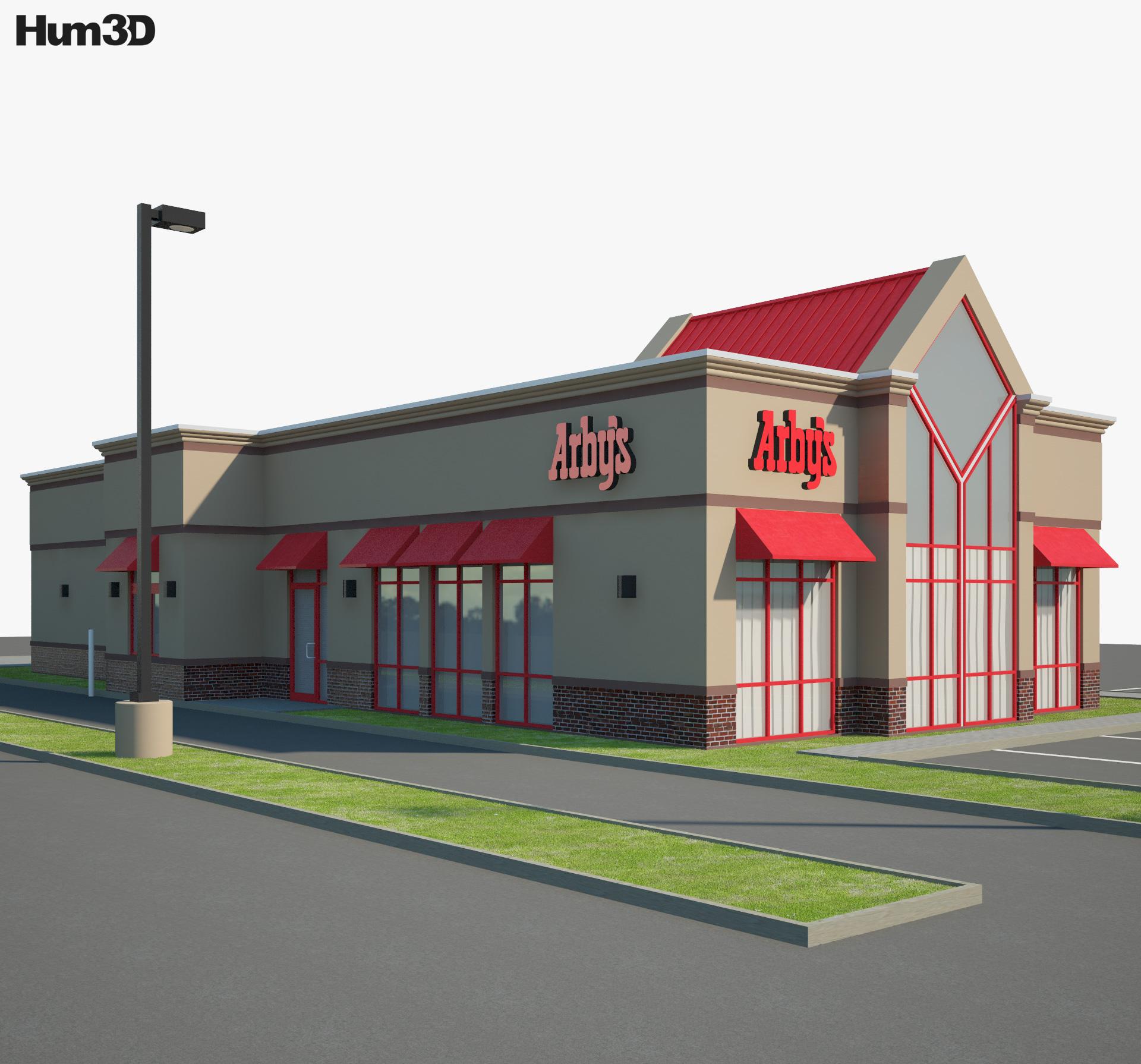 Arby's Restaurant 01 3d model