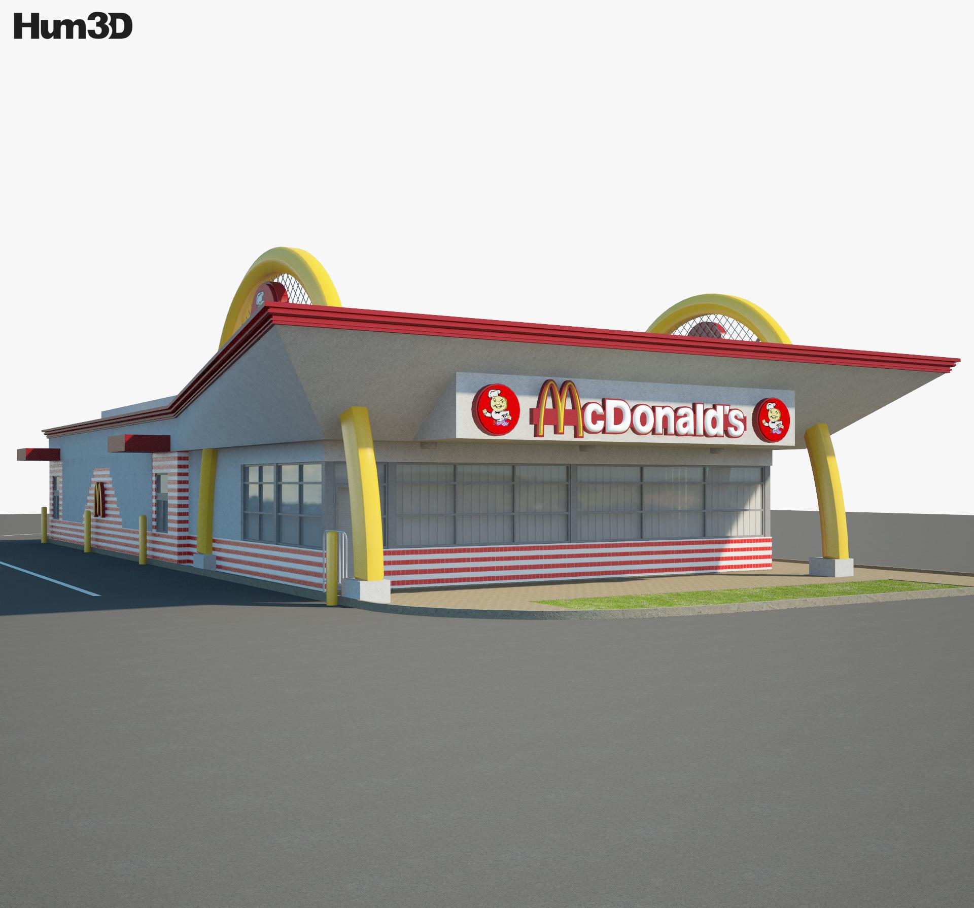 McDonald's Restaurant 04 3d model