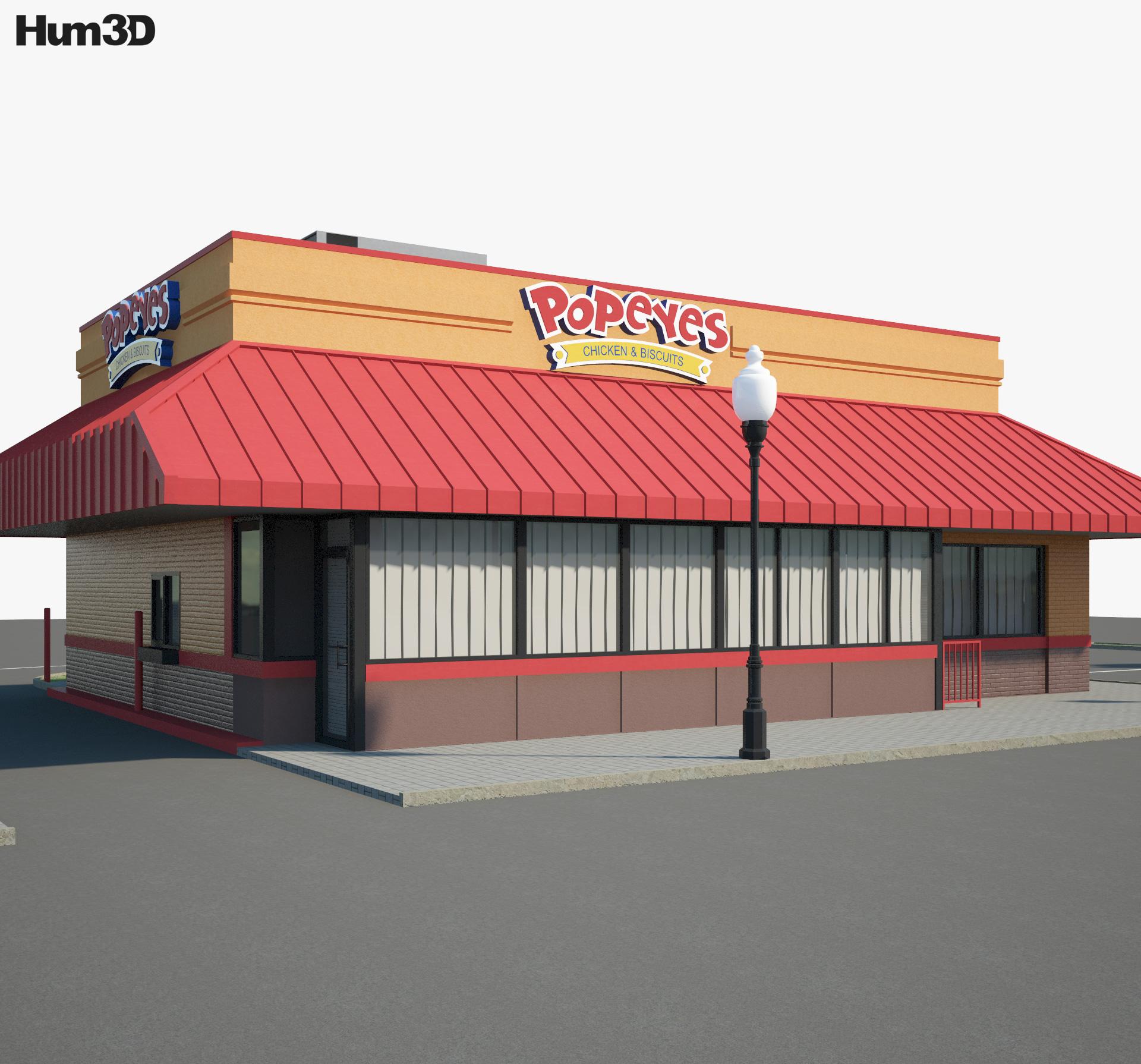 Popeyes Luisiana Kitchen 02 3d model