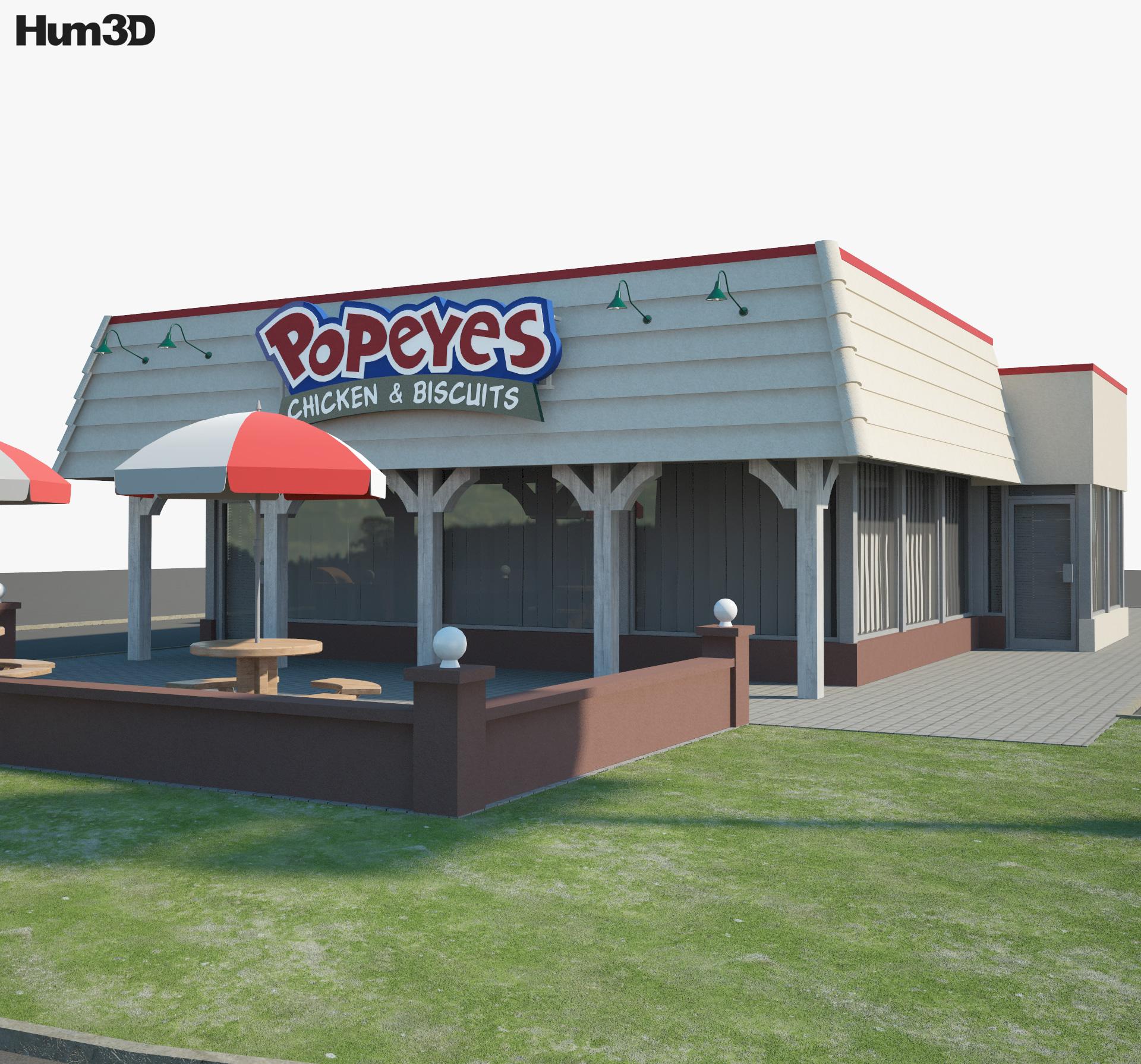 Popeyes Luisiana Kitchen 03 3d model