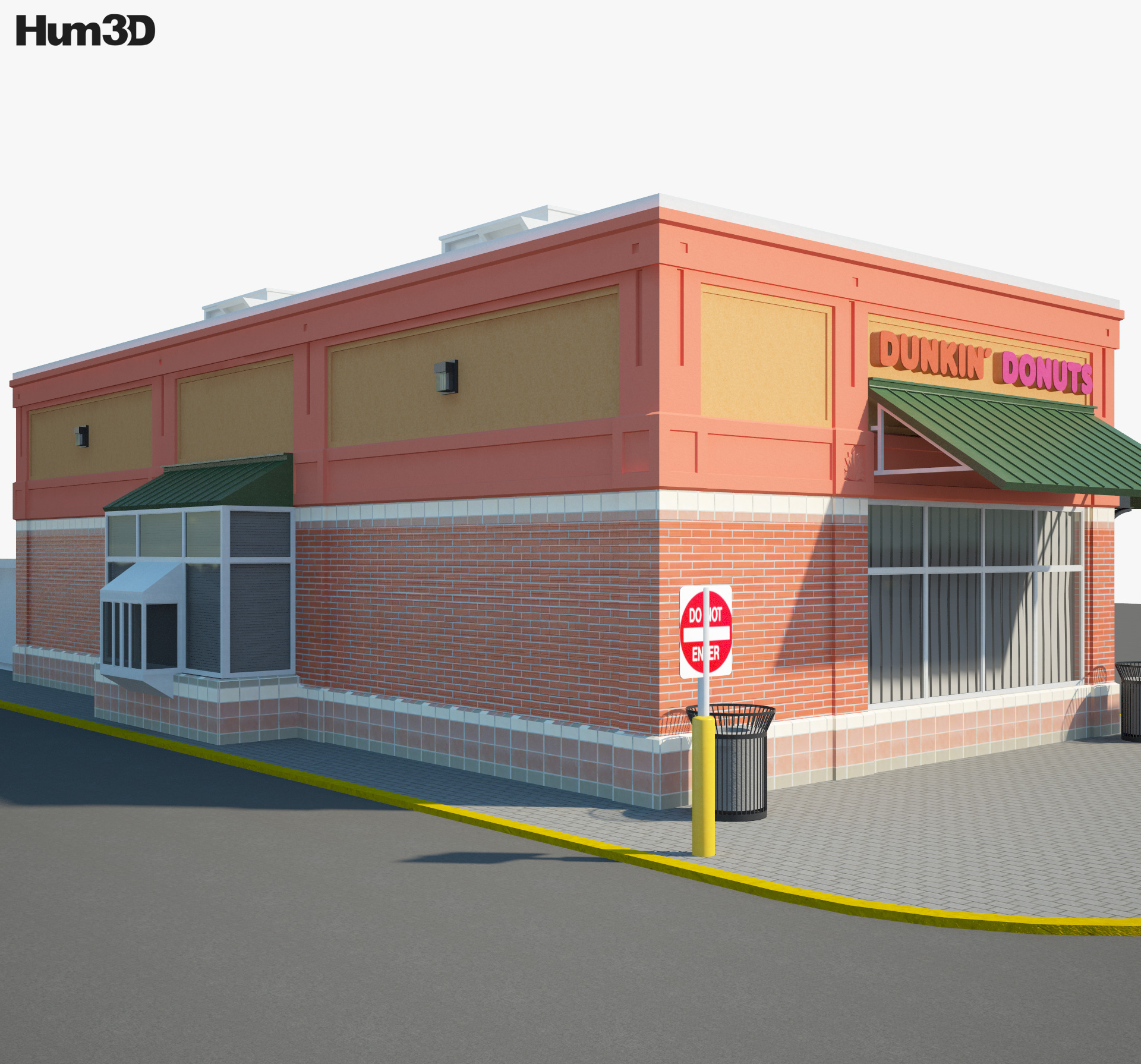 Dunkin' Donuts Restaurant 03 3d model