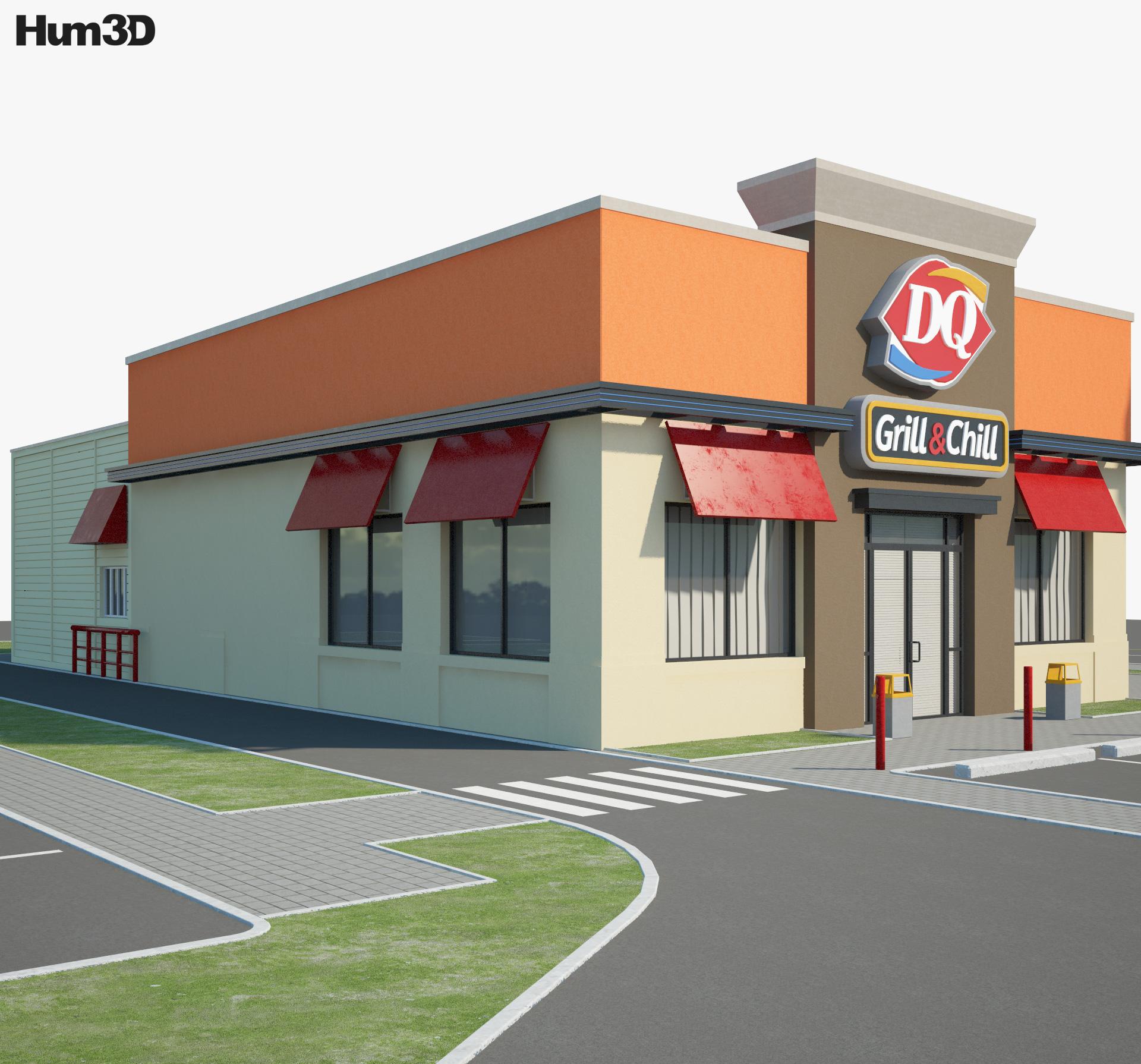 Dairy Queen Restaurant 02 3d model