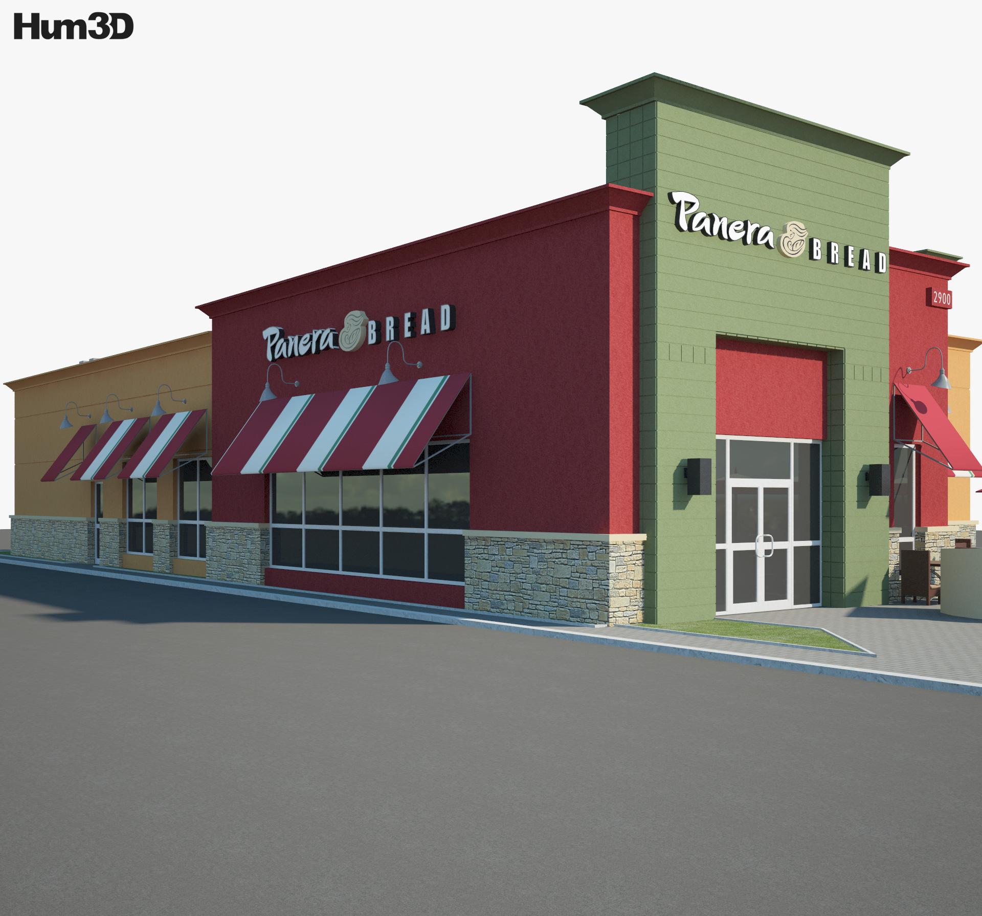 Panera Bread Restaurant 02 3d model