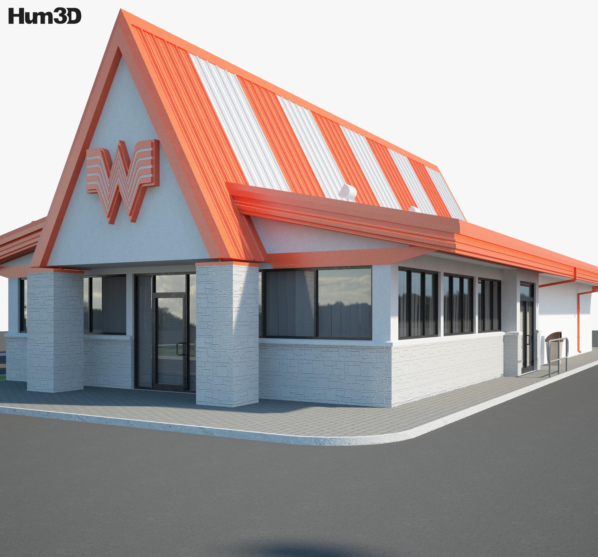 Whataburger Restaurant 01 3d model