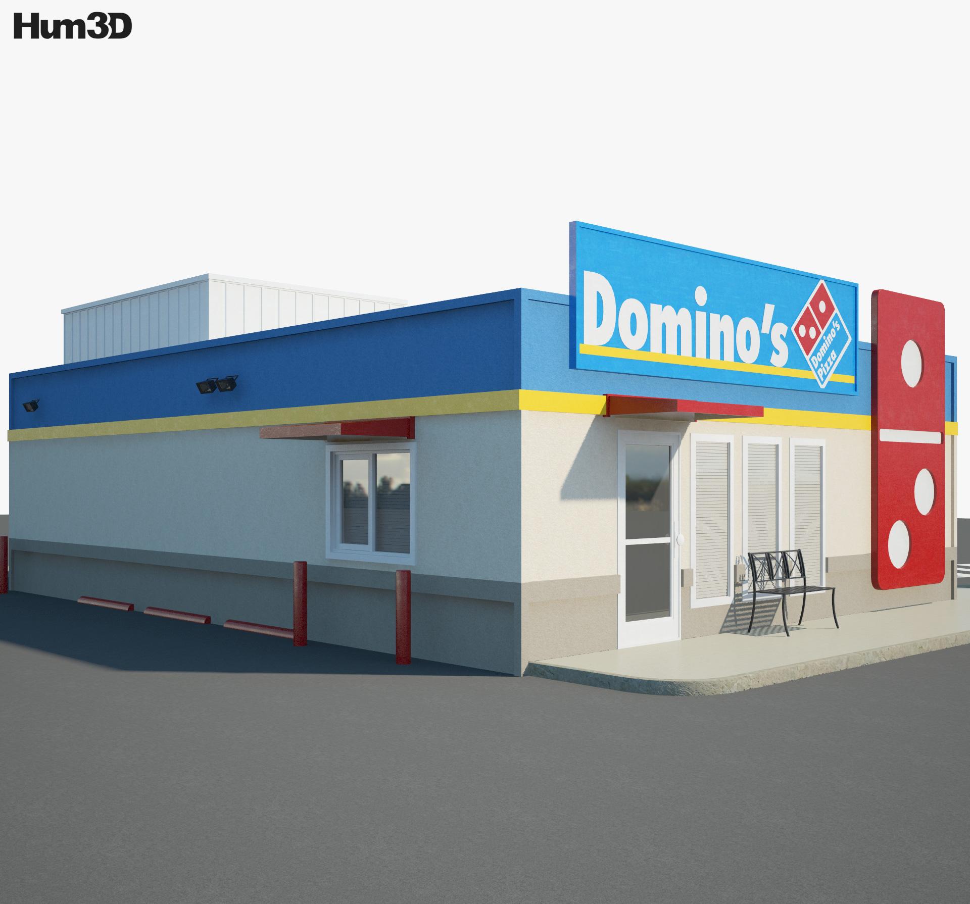 Domino's Pizza Restaurant 02 3d model