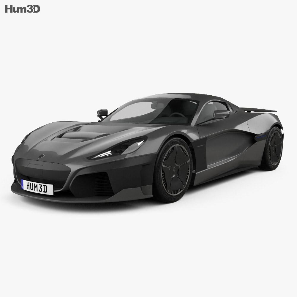 Rimac C Two 2020 3d model