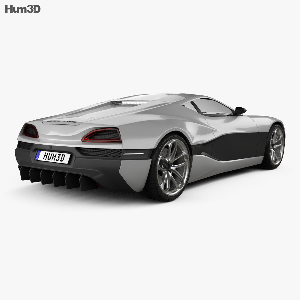 Rimac Concept One 2016 3d model