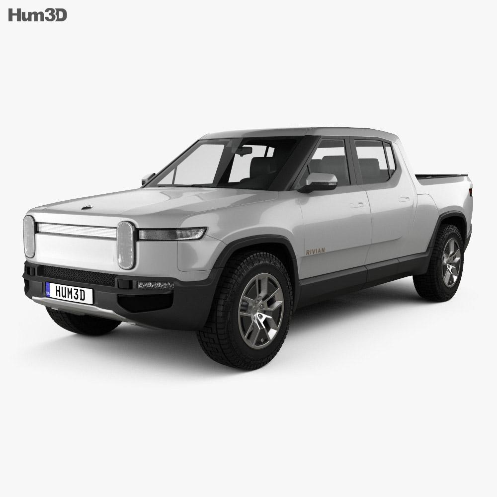 Rivian R1T 2018 3d model