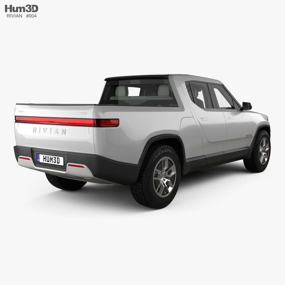 Rivian R1T with HQ interior 2018 3d model