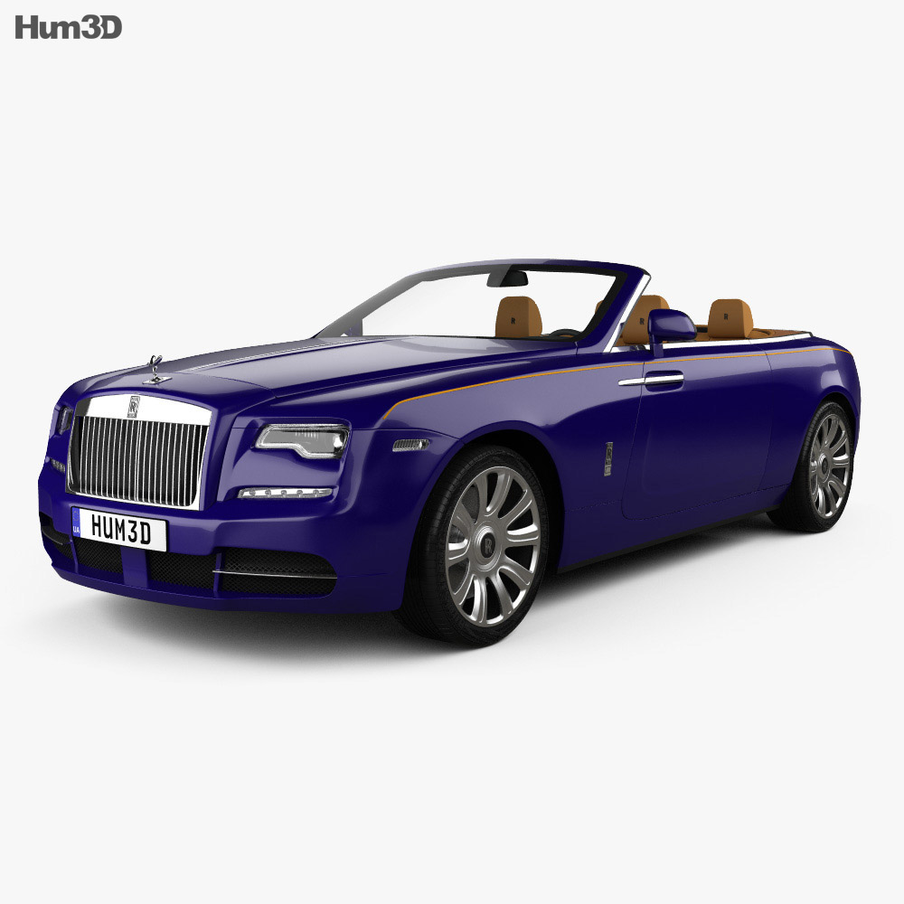 Rolls-Royce Dawn with HQ interior 2017 3d model