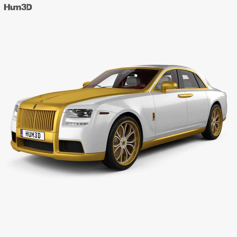 Rolls-Royce Ghost Diva Fenice Milano with HQ Interior 2012 3d model