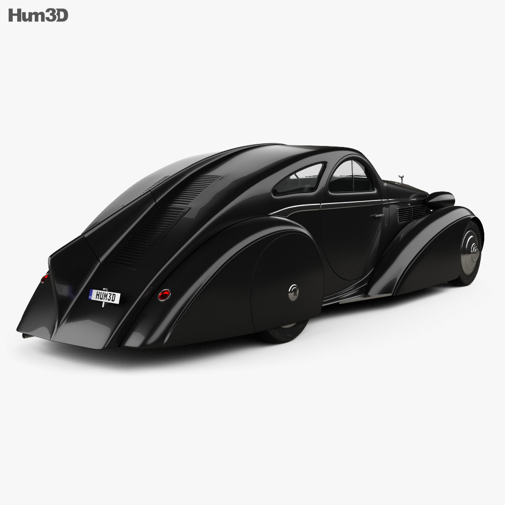 Rolls-Royce Phantom Jonckheere Coupe 1934 3d model