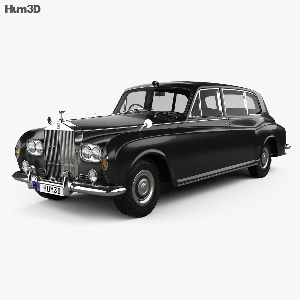 Rolls-Royce Phantom Park Ward Limousine 1963 3d model