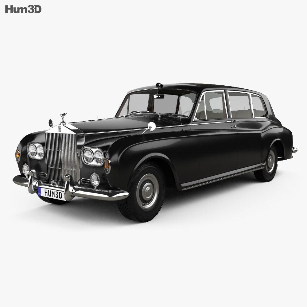 Rolls-Royce Phantom Park Ward Limousine with HQ interior 1963 3d model
