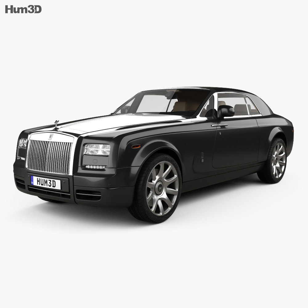 Rolls-Royce Phantom coupe with HQ interior 2012 3d model