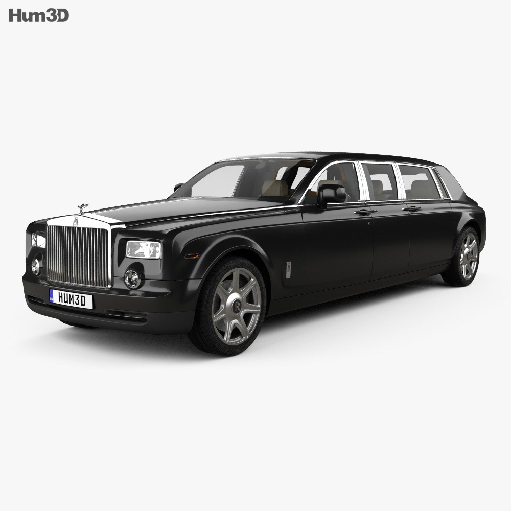 Rolls-Royce Phantom Mutec with HQ interior 2012 3d model