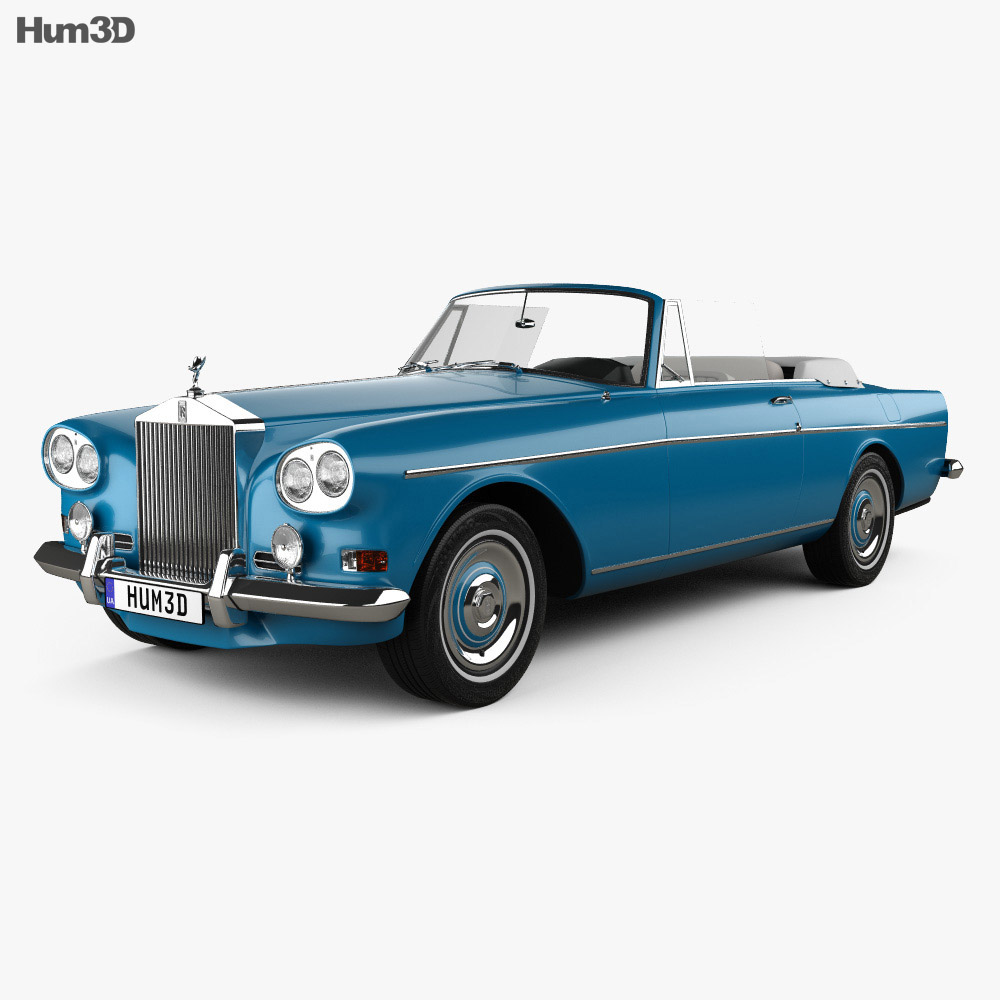 Rolls-Royce Silver Cloud III Mulliner Park Ward Drop Head Coupe 1966 3d model