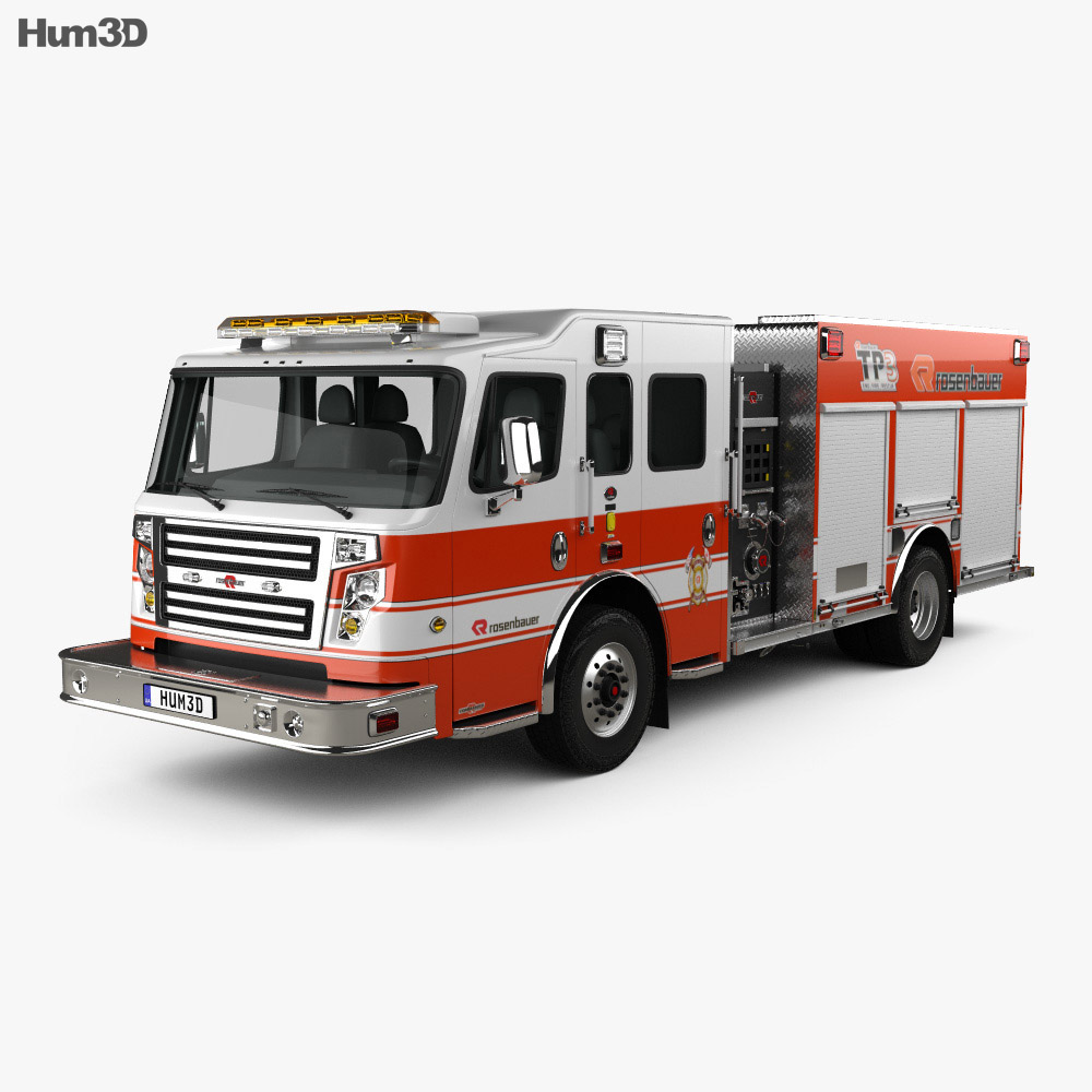 Rosenbauer TP3 Pumper Fire Truck 2015 3d model
