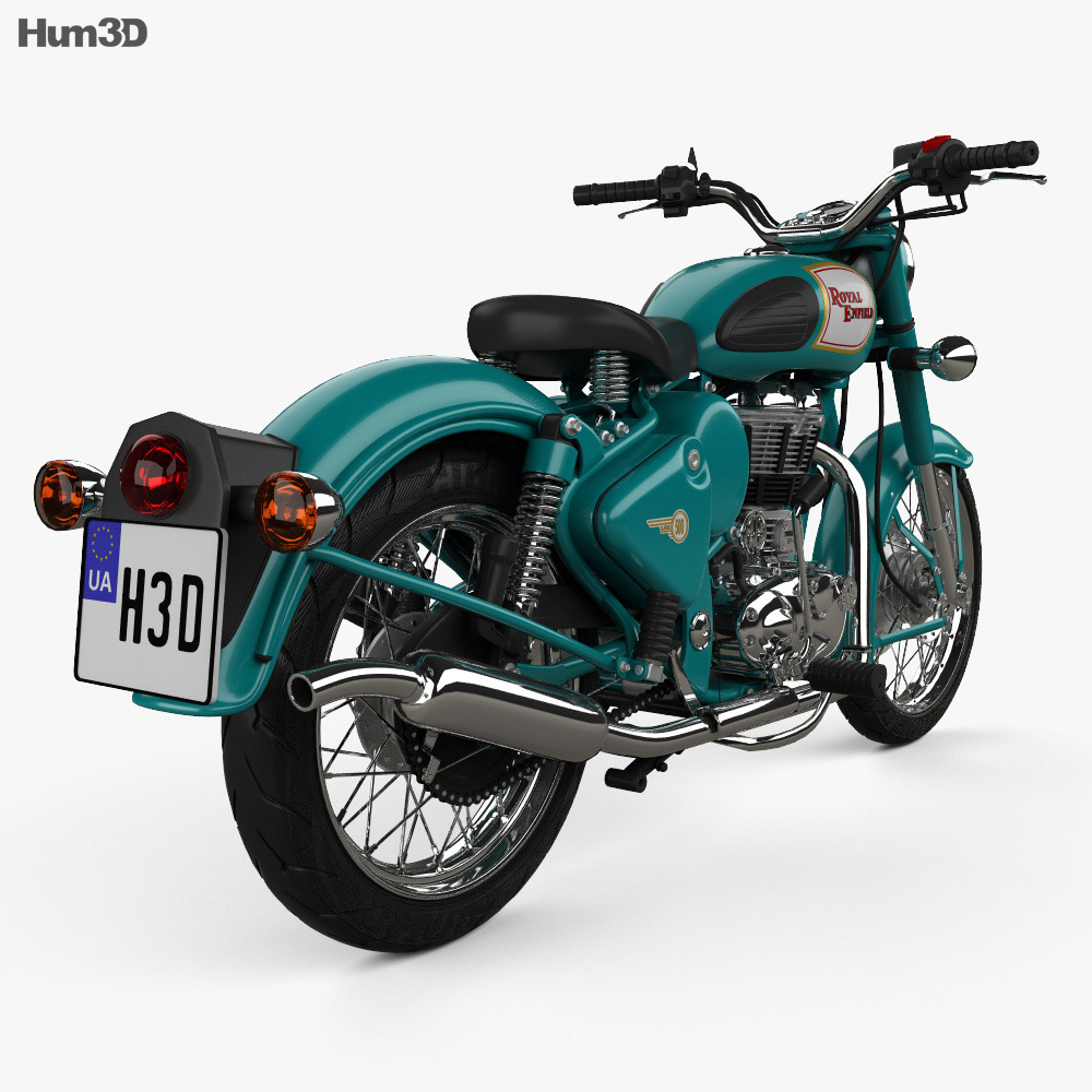 Royal Enfield Bullet C5 Classic 2014 3d model