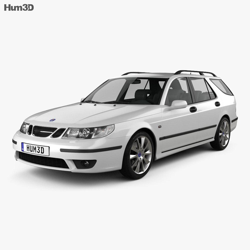 Saab 9 5 Aero Wagon 2005 3D Model