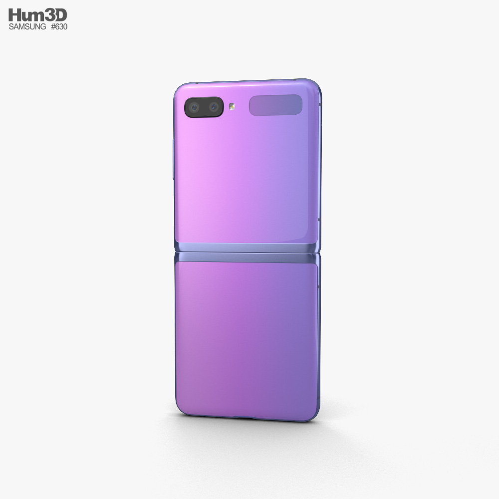Samsung Galaxy Z Flip Mirror Purple 3d model