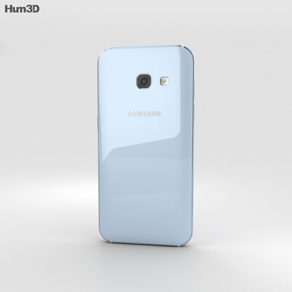 Samsung Galaxy A3 (2017) Blue Mist 3d model