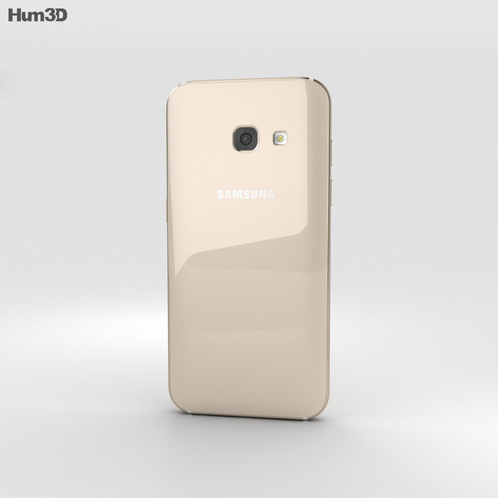 Samsung Galaxy A3 (2017) Gold Sand 3d model