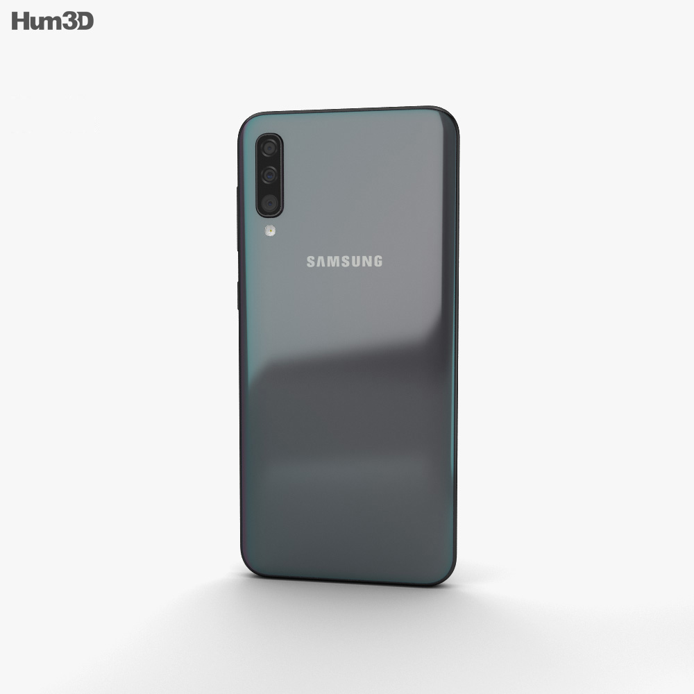 Samsung Galaxy A50 Black 3d model