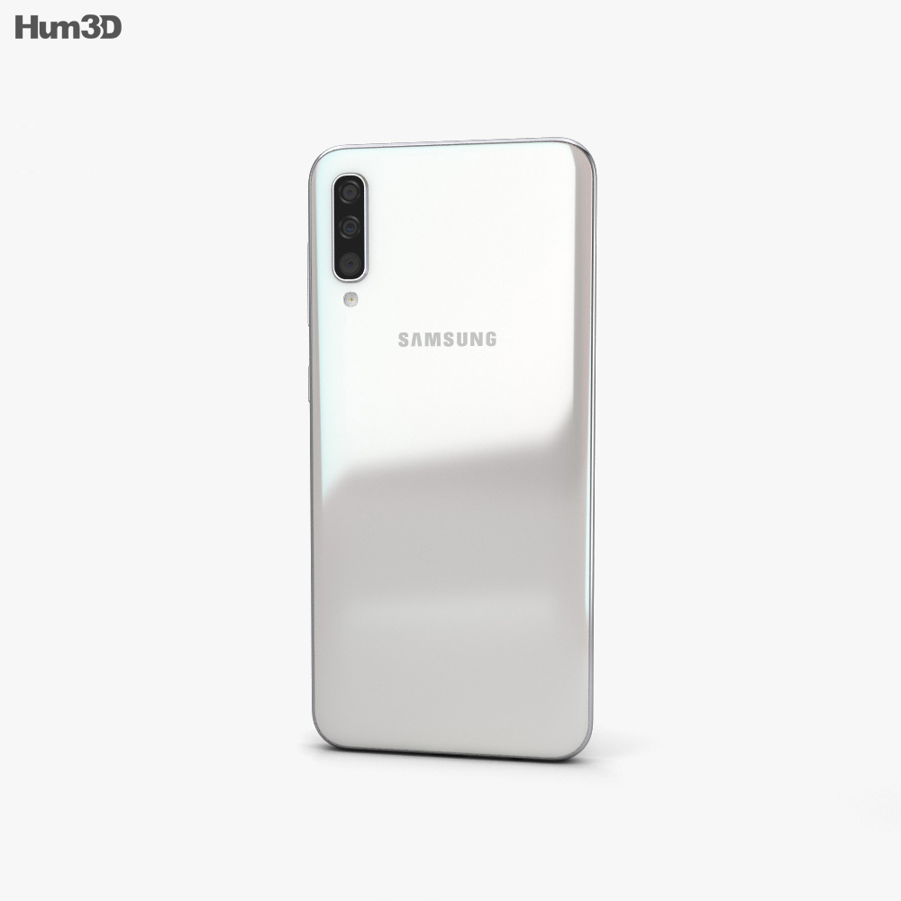 Samsung Galaxy A50 White 3d model