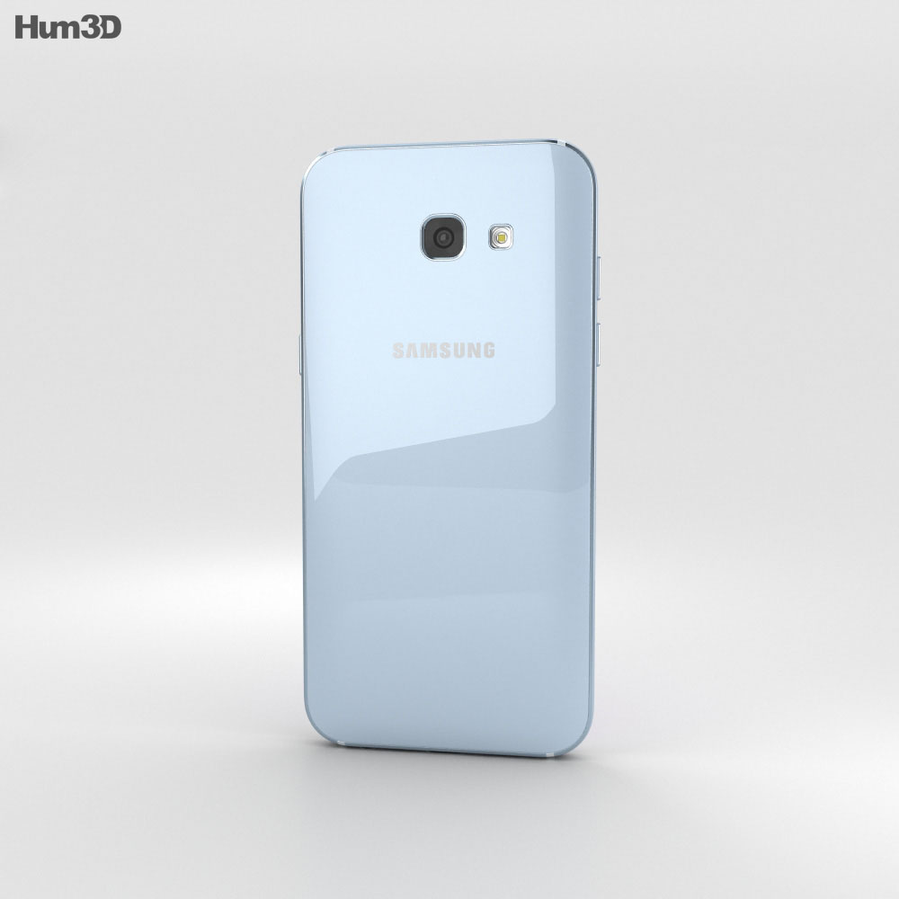 Samsung Galaxy A5 (2017) Blue Mist 3d model
