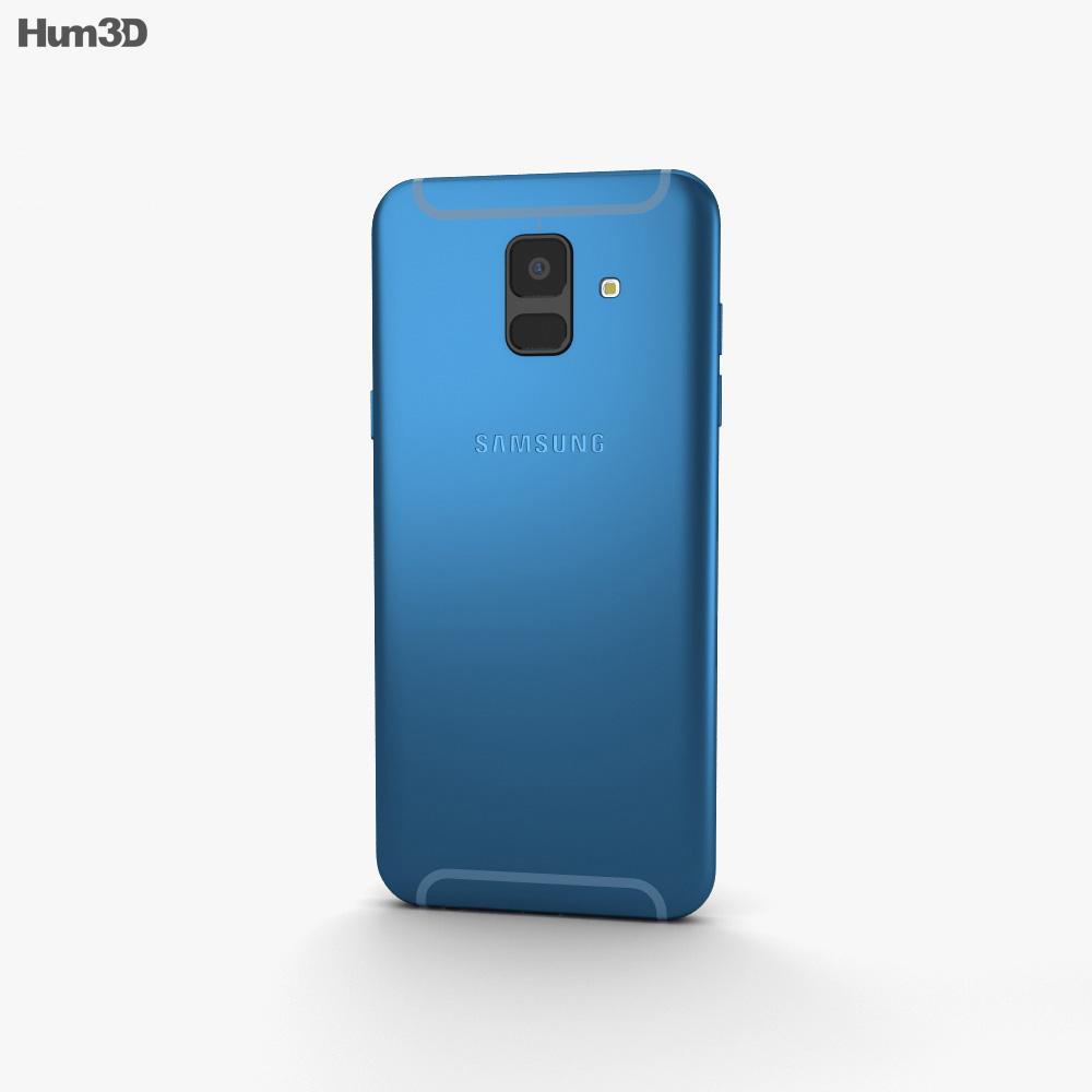 Samsung Galaxy A6 Blue 3d model