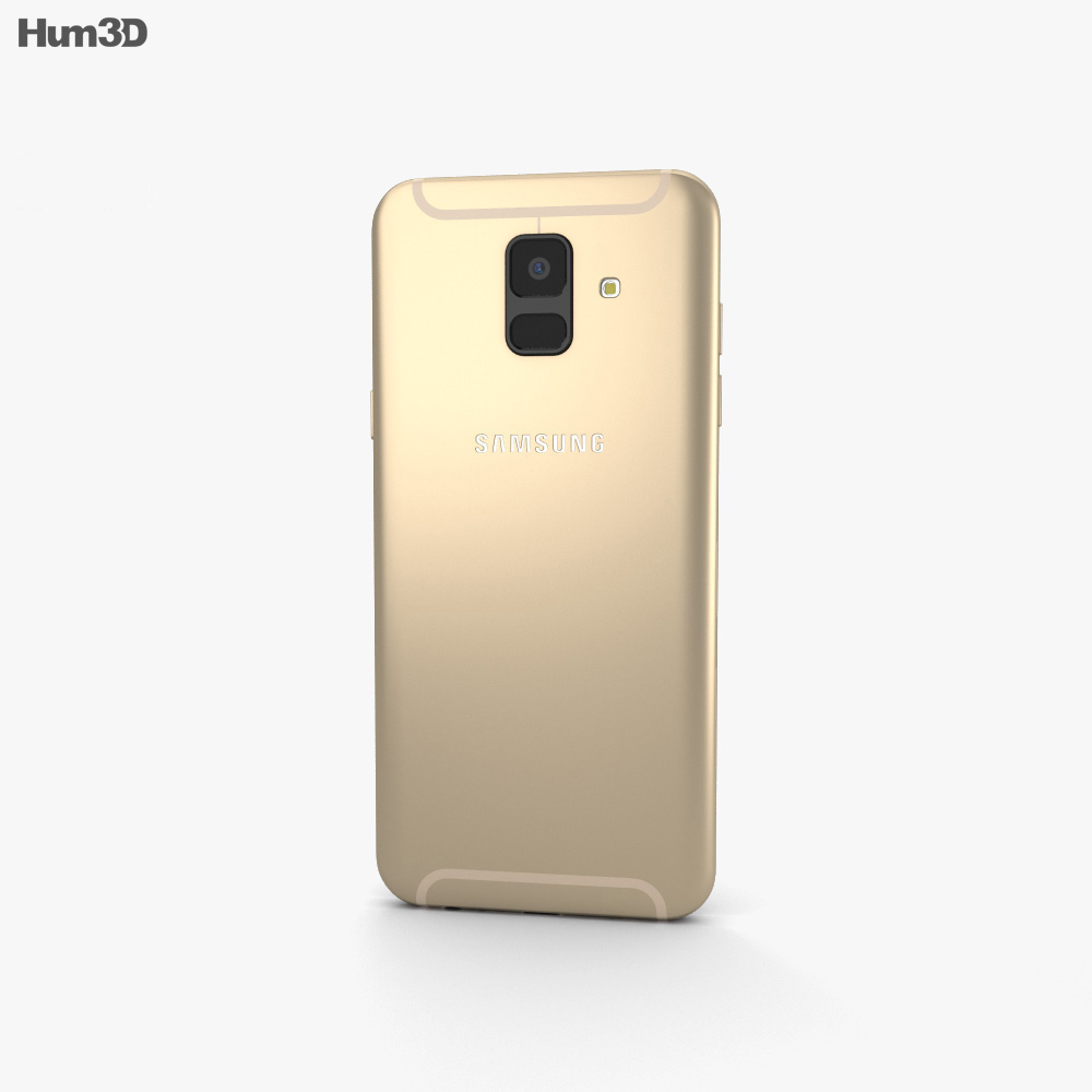 Samsung Galaxy A6 Gold 3d model