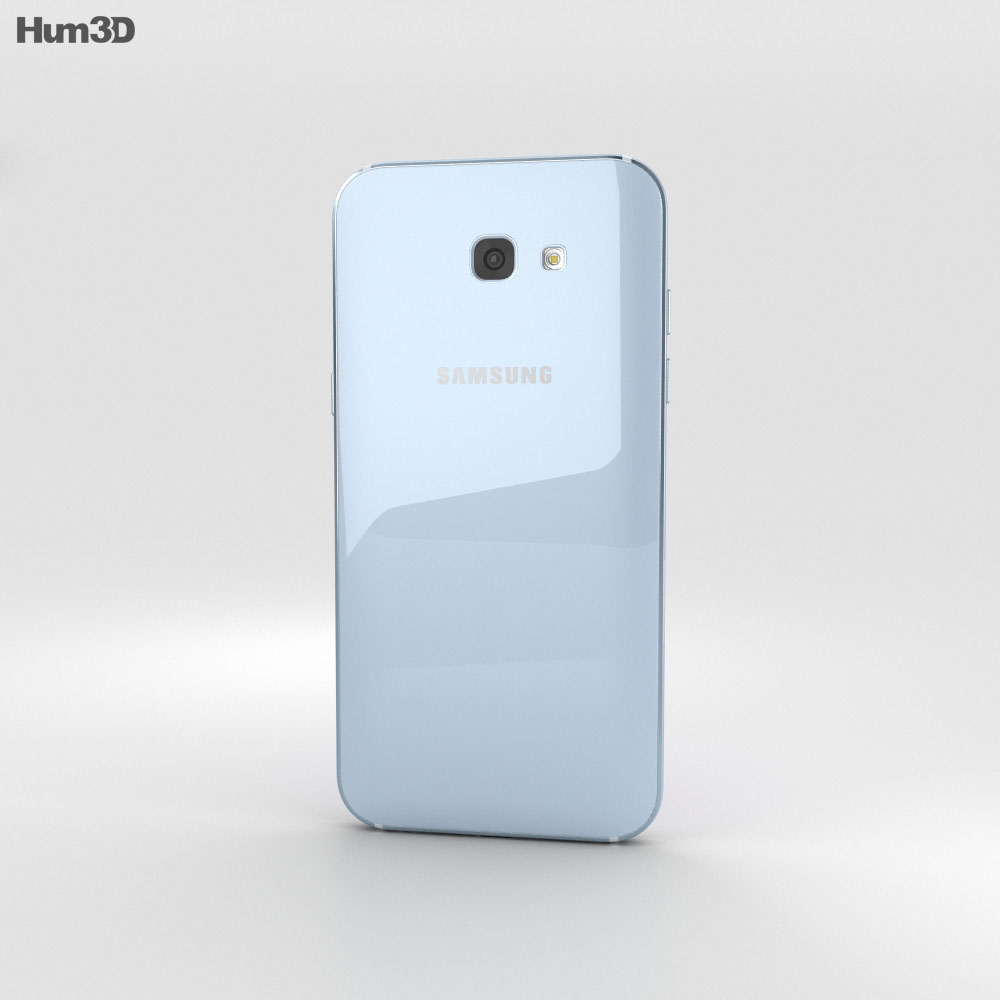 Samsung Galaxy A7 (2017) Blue Mist 3d model