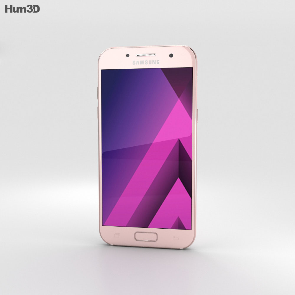 Samsung Galaxy A7 (2017) Peach Cloud 3d model