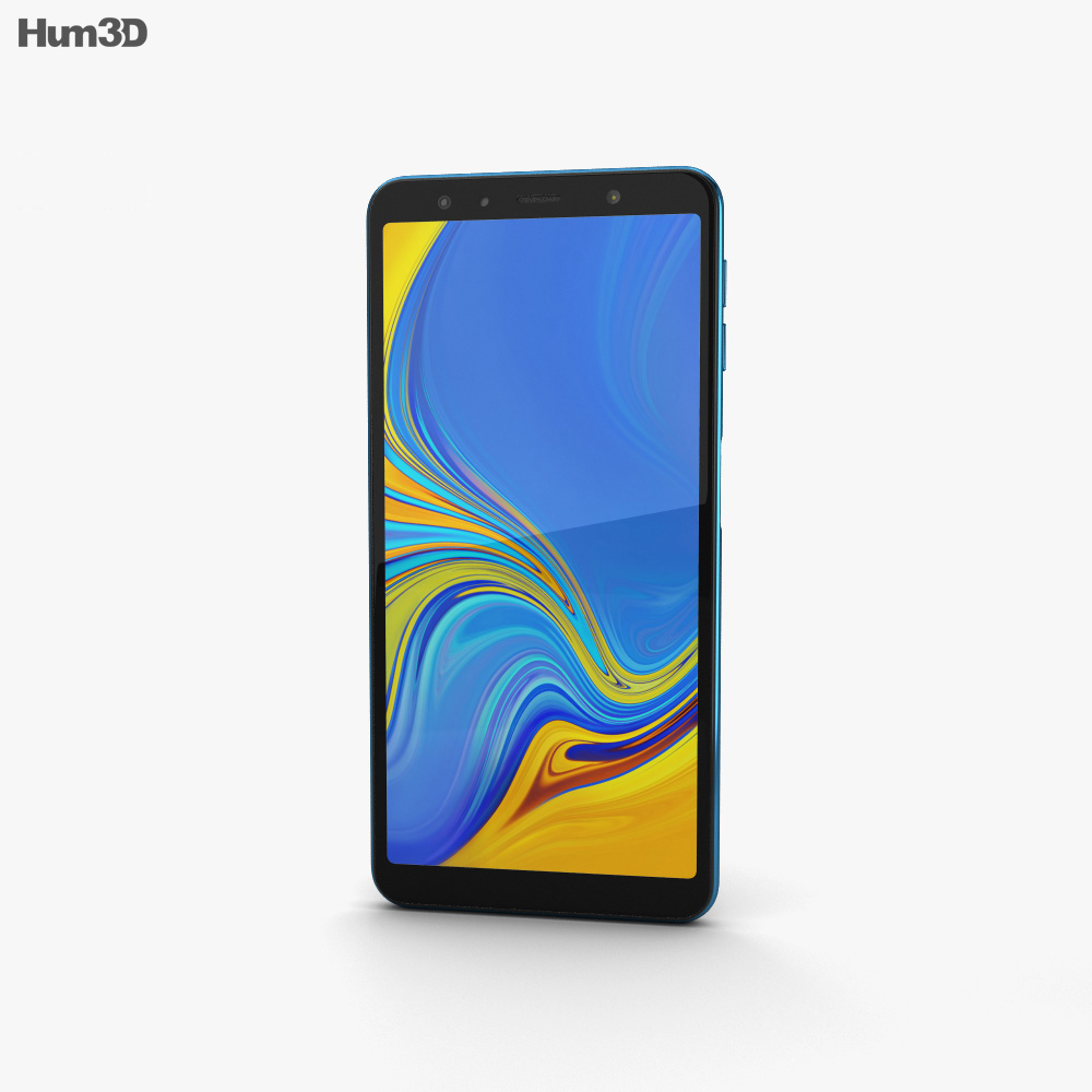 Samsung Galaxy A7 (2018) Blue 3d model