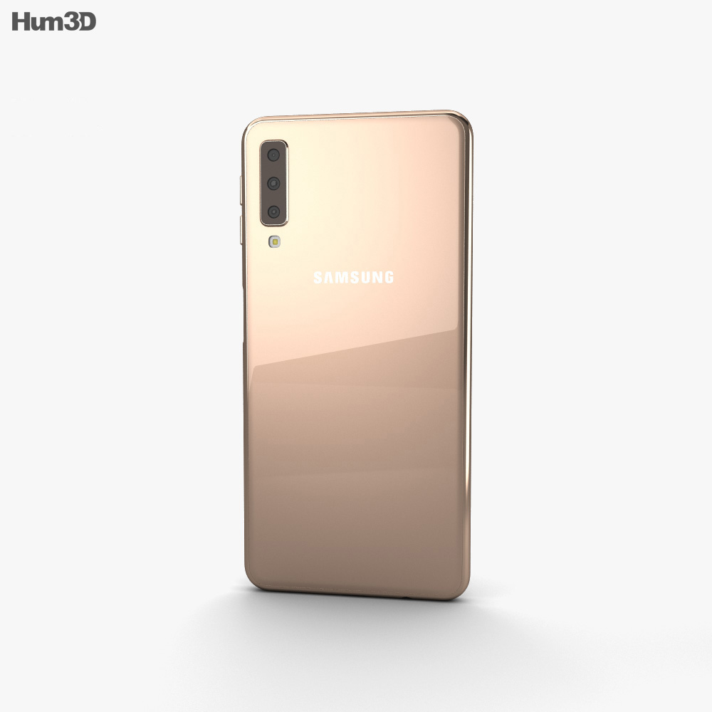 Samsung Galaxy A7 (2018) Gold 3d model