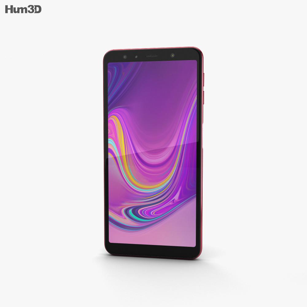 Samsung Galaxy A7 (2018) Pink 3d model