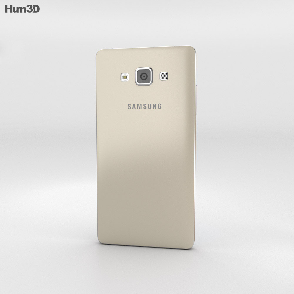 Samsung Galaxy A7 Champagne Gold 3d model