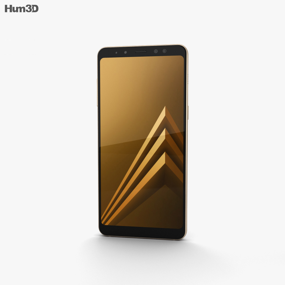 Samsung Galaxy A8 (2018) Gold 3d model