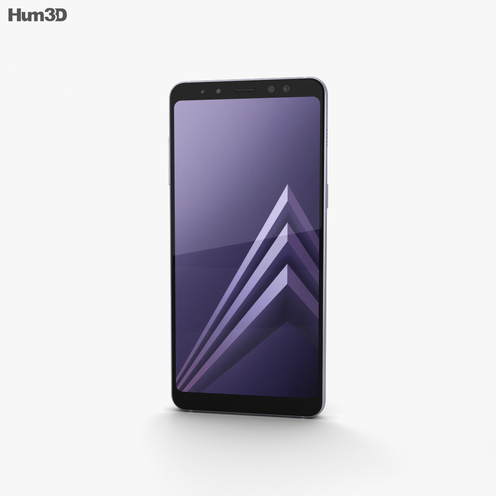 Samsung Galaxy A8 (2018) Orchid Grey 3d model