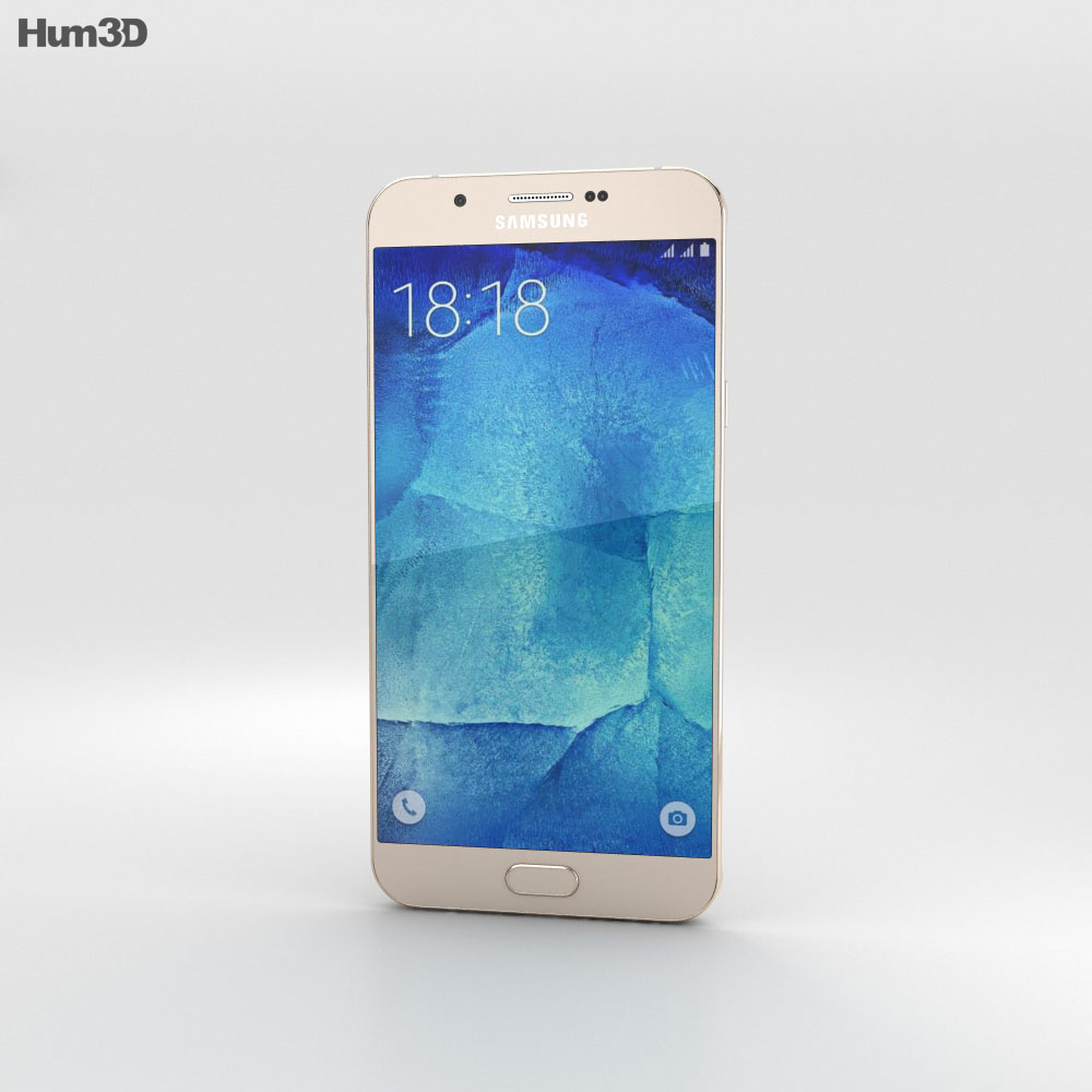 Samsung Galaxy A8 Champagne Gold 3d model