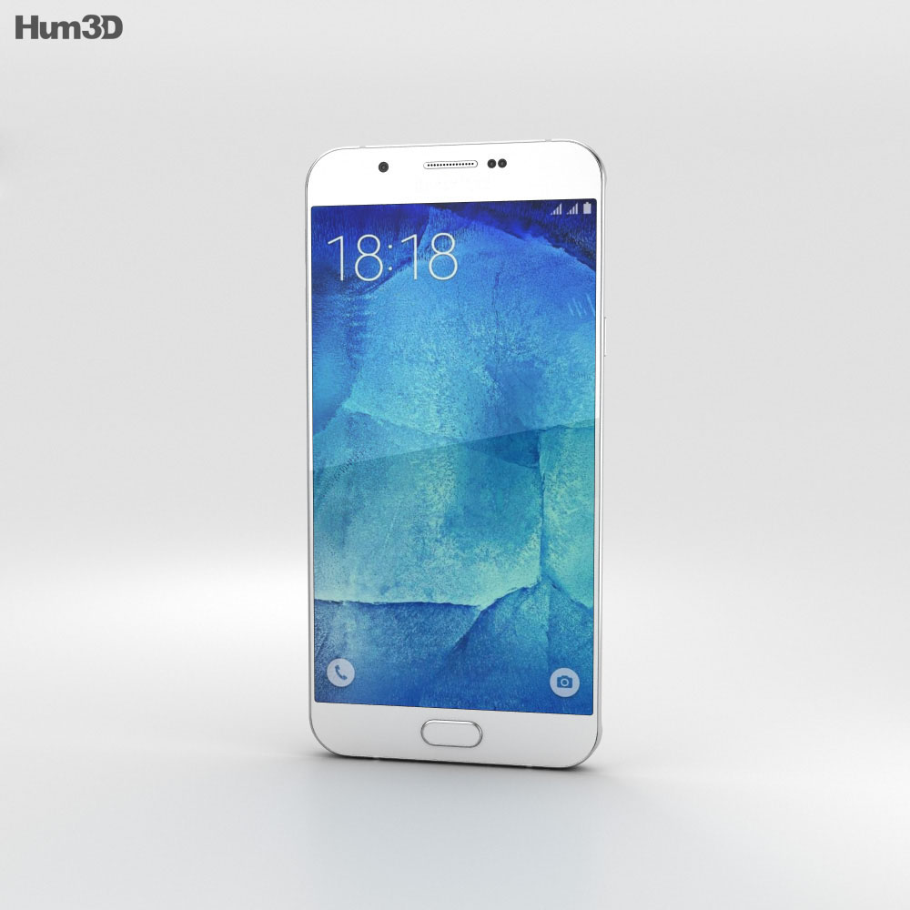 Samsung Galaxy A8 Pearl White 3d model