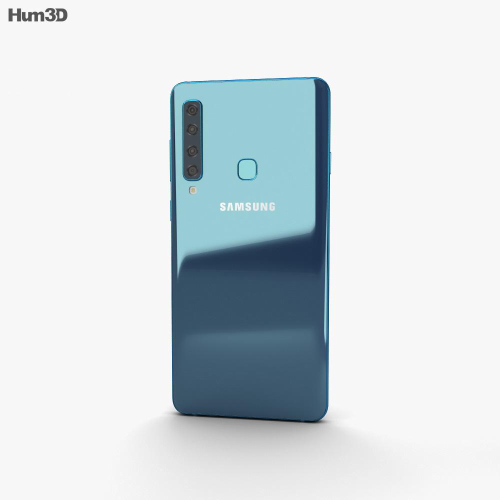 Samsung Galaxy A9 (2018) Lemonade Blue 3d model