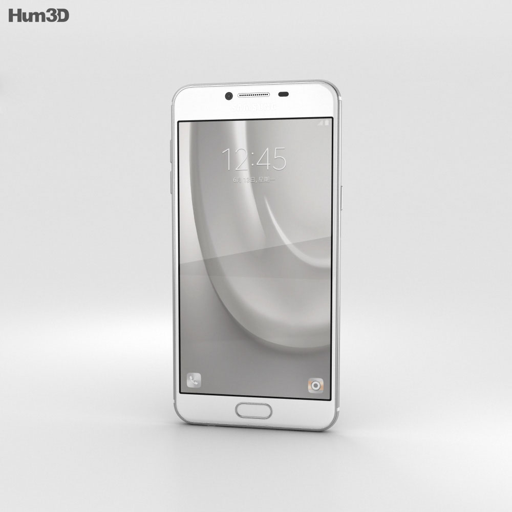 Samsung Galaxy C7 Silver 3d model