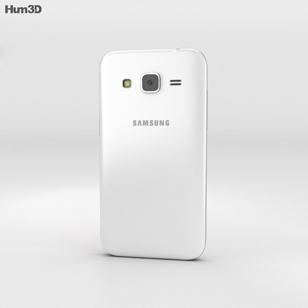 Samsung Galaxy Core Prime White 3d model