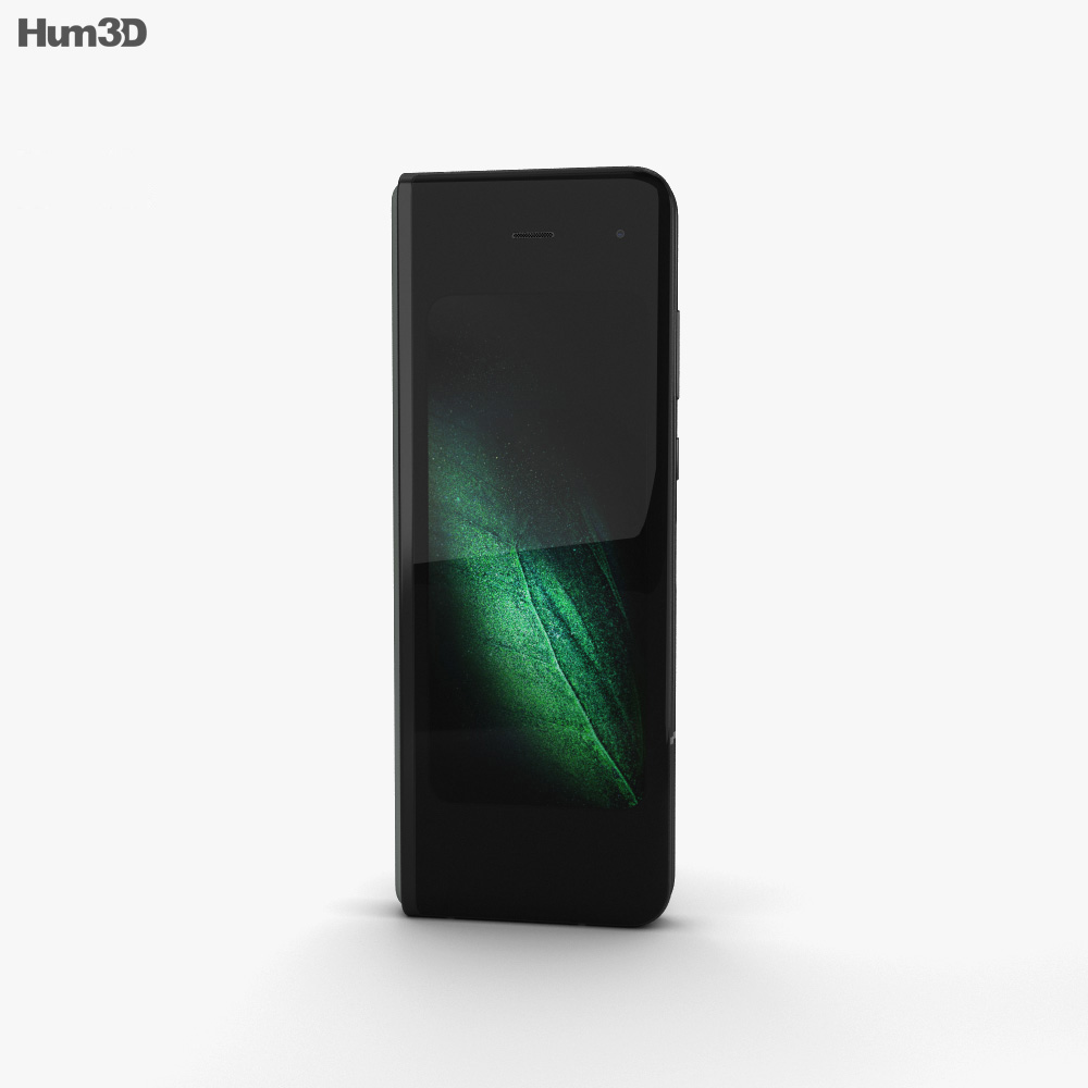 Samsung Galaxy Fold Cosmos Black 3d model