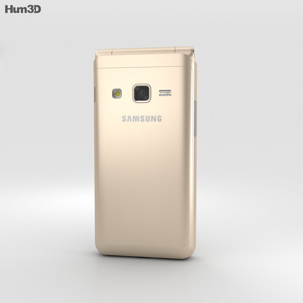 Samsung Galaxy Folder 2 Gold 3d model