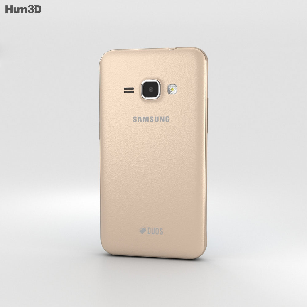 Samsung Galaxy J1 (2016) Gold 3d model